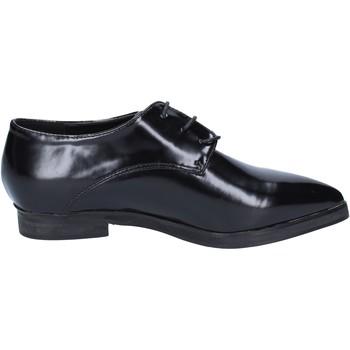 Chaussures Femme Richelieu Francescomilano MILANO élégantes noir cuir BX328 noir