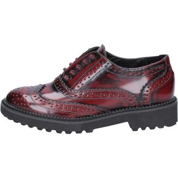 Chaussures Femme Derbies Francescomilano chaussures femme  élégantes bordeaux cuir BX331 rouge
