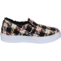 Chaussures Femme Slip ons 2 Stars chaussures femme 2 STAR slip on noir textile blanc BX377 noir