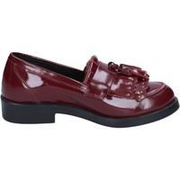 Chaussures Femme Mocassins Emanuélle Vee chaussures femme  mocassins bordeaux cuir BX382 rouge