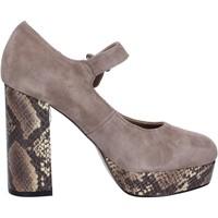 Chaussures Femme Escarpins Emanuélle Vee chaussures femme  escarpins beige daim BX385 beige