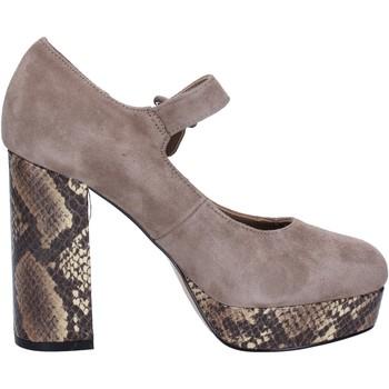 Chaussures Femme Escarpins Emanuélle Vee VEE escarpins beige daim BX385 beige