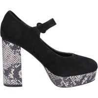 Chaussures Femme Escarpins Emanuélle Vee chaussures femme  escarpins noir daim BX384 noir