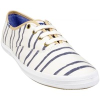 Chaussures Femme Baskets basses Keds Basket Ch Whash Stripe Blanc Beige