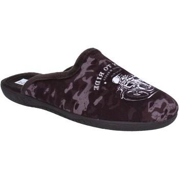 Chaussures Homme Chaussons Pregunta pantofole sandales marron textile BX441 marron