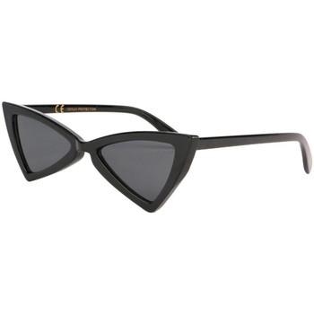 Montres & Bijoux Femme Lunettes de soleil Eye Wear Lunettes de soleil triangulaires Noires Tryade Noir