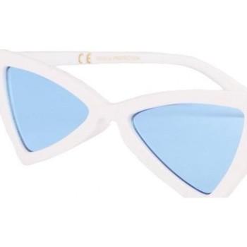 Montres & Bijoux Lunettes de soleil Eye Wear Lunettes de soleil triangulaires blanches verres bleu Tryade Bleu