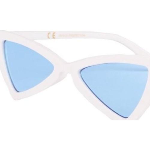 Montres   Bijoux Lunettes de soleil Eye Wear Lunettes de soleil  triangulaires blanches verres bleu Tryade 60647731fbfc