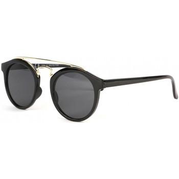 Montres & Bijoux Lunettes de soleil Eye Wear Lunettes soleil rondes noires et dorees tendance Balya Noir