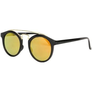 Montres & Bijoux Lunettes de soleil Eye Wear Lunettes soleil miroir dore rondes tendance Balya Jaune