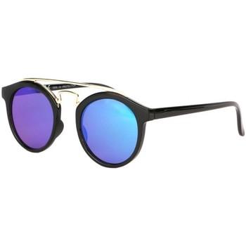 Montres & Bijoux Lunettes de soleil Eye Wear Lunettes soleil miroir bleu rondes tendance Balya Bleu