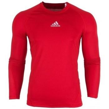 Vêtements Homme T-shirts manches longues adidas Originals Alphaskin LS rouge