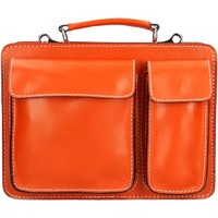 Sacs Femme Porte-Documents / Serviettes Oh My Bag Mallette pour femme en cuir ORANGE