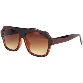 Montres   Bijoux Lunettes de soleil Eye Wear Grosses lunettes soleil marron  fashion Kam Marron fce61c7da0c9