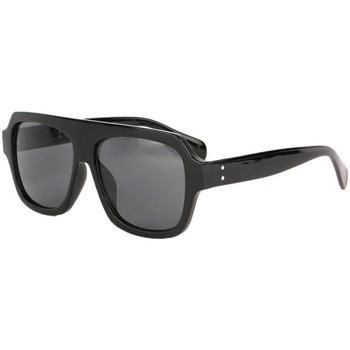 Montres & Bijoux Lunettes de soleil Eye Wear Grosses lunettes soleil noires fashion Kam Noir