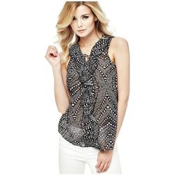 Vêtements Femme Tuniques Guess Blouse SL Celma Noir 38