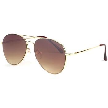 Montres & Bijoux Lunettes de soleil Eye Wear Lunettes soleil aviateur marron doré Flying Marron