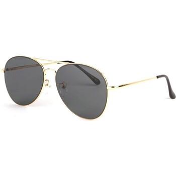 Montres & Bijoux Lunettes de soleil Eye Wear Lunettes soleil aviateur noire doree Flying Noir