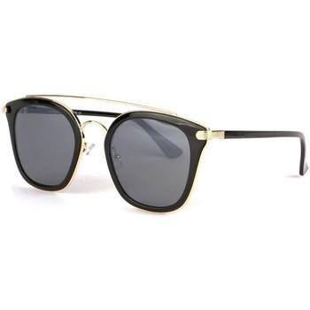 Montres & Bijoux Lunettes de soleil Eye Wear Lunettes soleil noire doree tendance fashly Noir