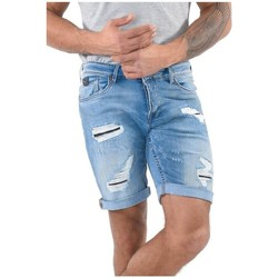 Vêtements Homme Shorts / Bermudas Kaporal Bermuda Vito Worker Destroy Bleu Bleu