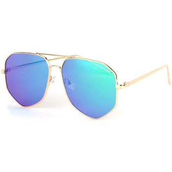 Montres & Bijoux Lunettes de soleil Eye Wear Lunettes de soleil aviateur miroir bleu Loisy Bleu