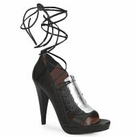 Chaussures Femme Sandales et Nu-pieds Sigerson Morrison STRUZZO Noir / Argent