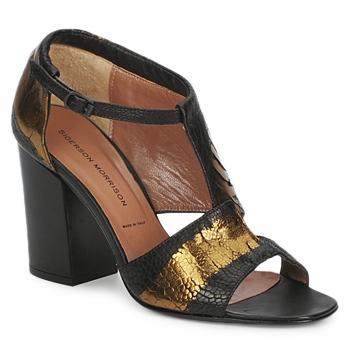 Sandale Sigerson Morrison STRUZZO Noir / Bronze 350x350