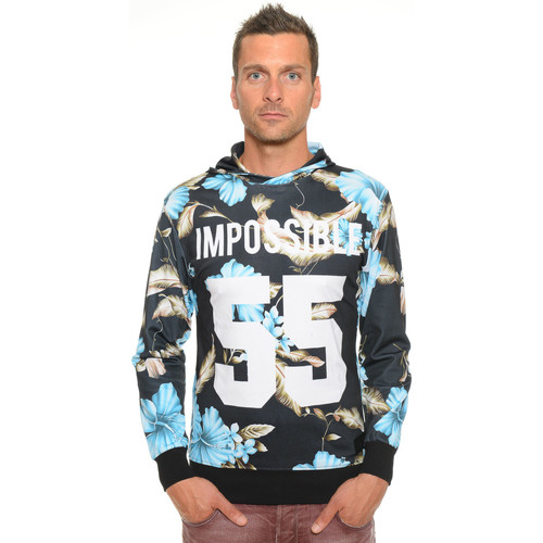 Vêtements Homme Sweats Celebry Tees Sweat Homme à Capuche Impossible 002 Noir