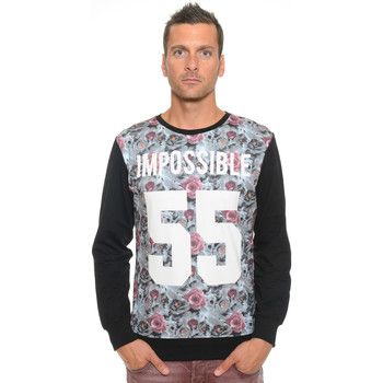 Vêtements Homme Sweats Celebry Tees Sweat Homme Col Rond Impossible 010 Noir