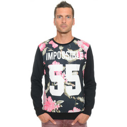 Vêtements Homme Sweats Celebry Tees Sweat Homme Col Rond Impossible 009 Noir
