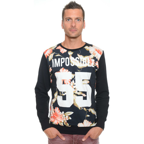Vêtements Homme Sweats Celebry Tees Sweat Homme Col Rond Impossible 008 Noir
