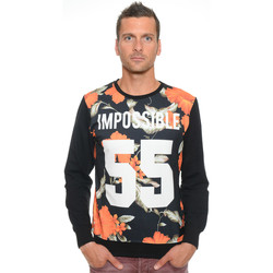 Vêtements Homme Sweats Celebry Tees Sweat Homme Col Rond Impossible 005 Noir