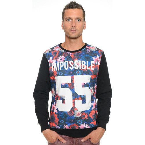 Vêtements Homme Sweats Celebry Tees Sweat Homme Col Rond Impossible 003 Noir