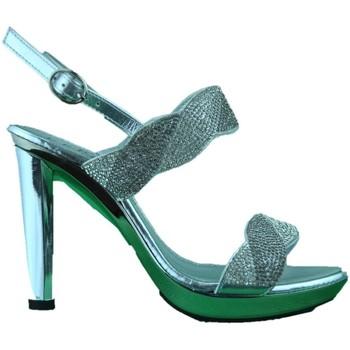 Chaussures Femme Sandales et Nu-pieds Phil Gatiér REPO Phil Gatiér sandalo donna gioiello tacco alto argento Silver