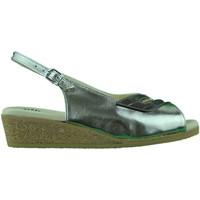 Chaussures Femme Sandales et Nu-pieds Made In Italia Sandalo donna zeppa bassa in sughero comodo comfort oro Gold