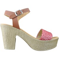 Chaussures Femme Sandales et Nu-pieds Inart...donna Sandali donna con tacco bianco cuoio made in Italy Red