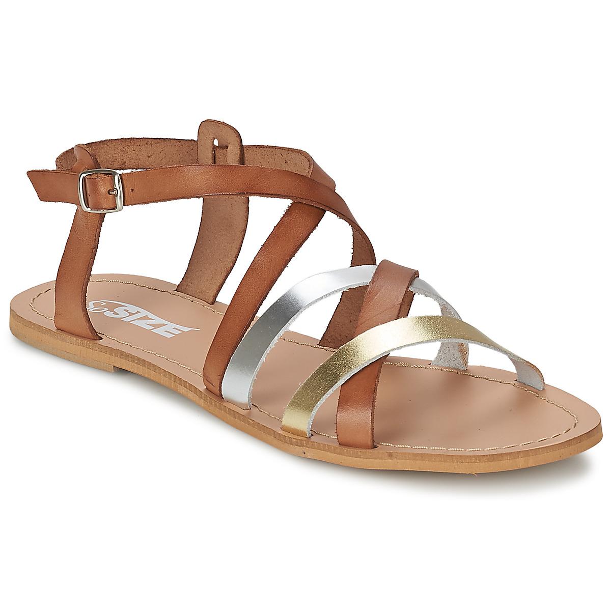 So Size AVELA Noisette - Livraison Gratuite avec  - Chaussures Sandale Femme