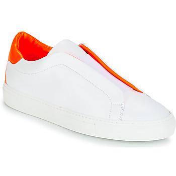 Chaussures Femme Baskets basses KLOM KISS Blanc / Orange