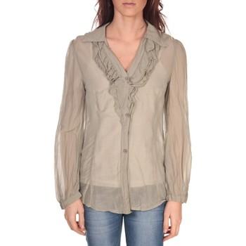 Vêtements Femme Tops / Blouses Vision De Reve Tunique Lorine 7068 Gris Marron