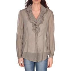 Vêtements Femme Tops / Blouses Vision De Reve Tunique Lorine 7068 Taupe Marron