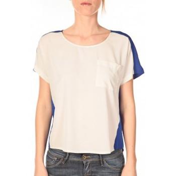 Vêtements Femme T-shirts manches courtes Vero Moda Top Félina 10074109 Bleu/Blanc Bleu