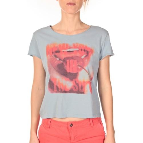 Vêtements Femme T-shirts manches courtes Vero Moda t-shirt  New Sun Bleu Gris