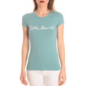 Vêtements Femme T-shirts manches courtes Little Marcel t-shirt tokyo corde turquoise Bleu