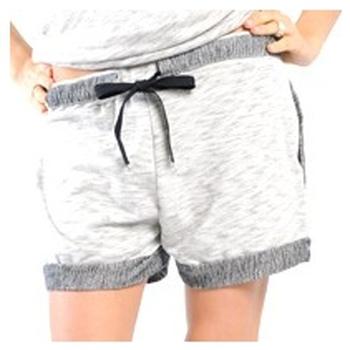 Vêtements Femme Shorts / Bermudas La Petite Française SHORT PLACIDE GRIS CHINE Gris