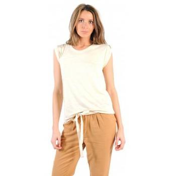 Vêtements Femme T-shirts manches courtes American Vintage TOP JAC60 NATUREL Beige