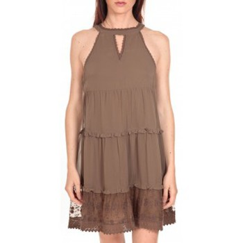 Vêtements Femme Robes courtes Vero Moda Robe New Dina Taupe LOVELY SS TOP PP Marron