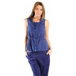 Vêtements Femme Gilets / Cardigans Sud Express GILET GAMBANI BLEU OCEAN Bleu