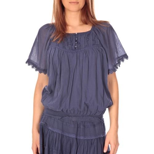 Vêtements Femme Tops / Blouses Vision De Reve vision de rêve t-shirt 9007 bleu Bleu