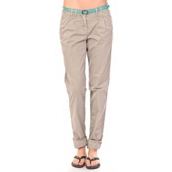 Pantalons Tom Tailor Pantalon Ceinture gris