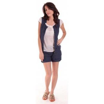 Vêtements Femme Shorts / Bermudas Sud Express SHORT SATIL OCEAN Bleu